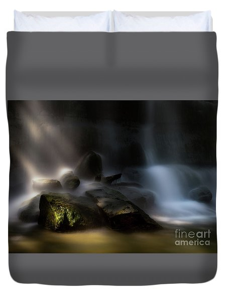 Bottom Of The Falls Duvet Cover
