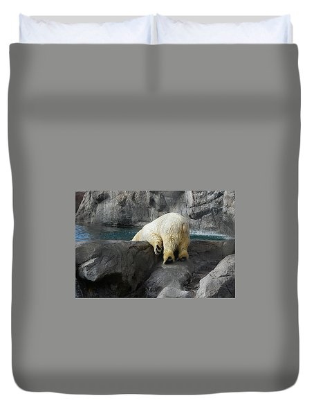 Duvet Cover featuring the photograph Bottoms Up by Carolyn Dalessandro