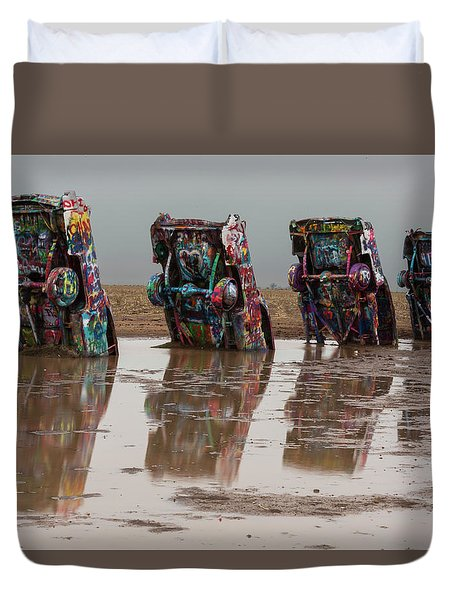 Duvet Cover featuring the photograph Bottoms Up by Stephen Stookey