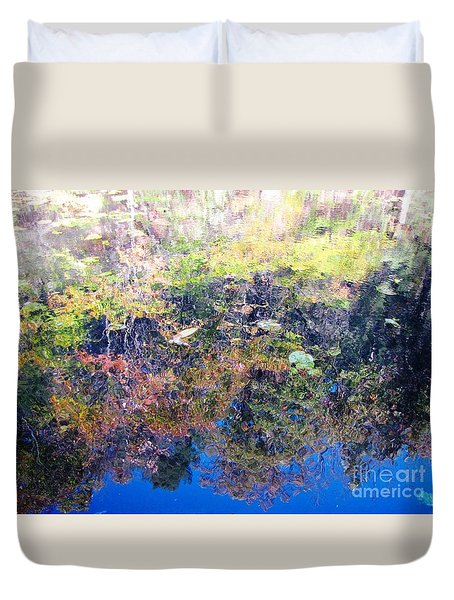 Duvet Cover featuring the photograph Bottoms Up Sunlight by Melissa Stoudt