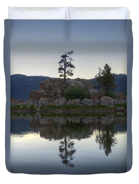 Duvet Cover featuring the photograph Boulder Bay Reflections  by Kelly Wade