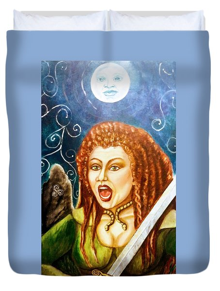 Boudicca  Let Not Our Daughters Be Forgotten Duvet Cover