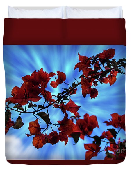 Bougainvillea At Joe's Secret Garden Iv Duvet Cover by Al Bourassa