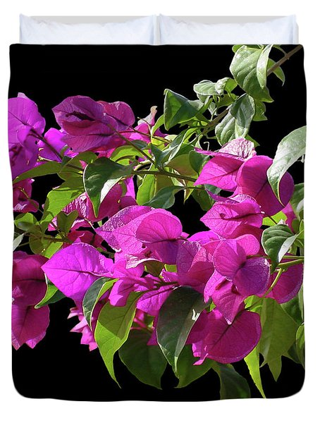 Bougainvillea Cutout Duvet Cover by Shirley Heyn
