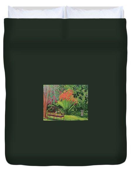 Bougainvillea Garden Duvet Cover