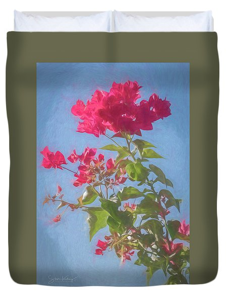Bougainvillea Morning Duvet Cover