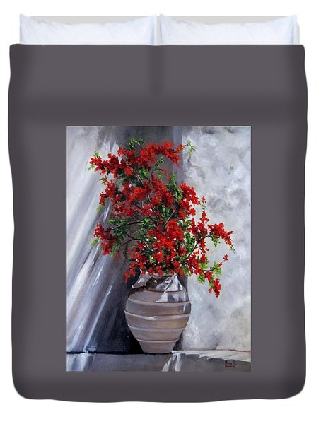 Bougainvillia Duvet Cover