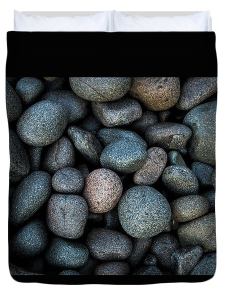 Boulder Beach Rocks Duvet Cover