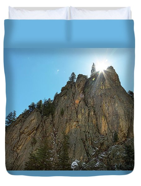 Duvet Cover featuring the photograph Boulder Canyon Narrows Pinnacle by James BO Insogna