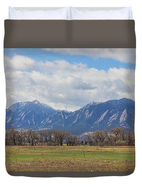Duvet Cover featuring the photograph Boulder Colorado Prairie Dog View  by James BO Insogna