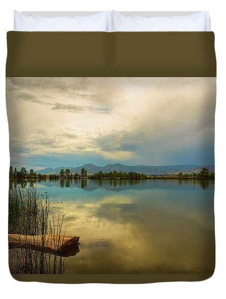 Duvet Cover featuring the photograph Boulder County Colorado Calm Before The Storm by James BO Insogna