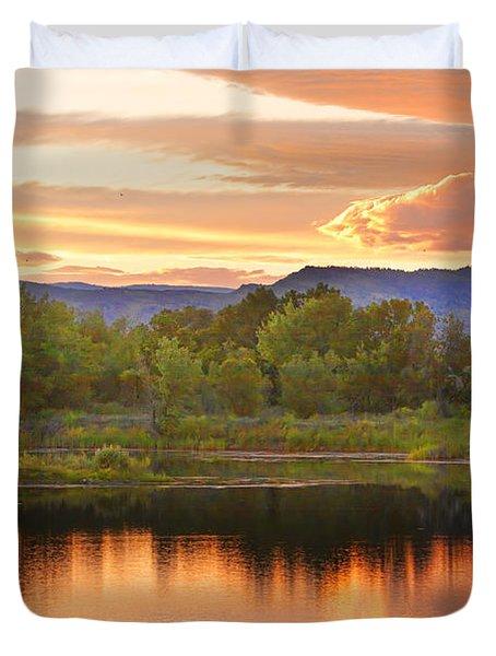 Boulder County Lake Sunset Landscape 06.26.2010 Duvet Cover by James BO  Insogna