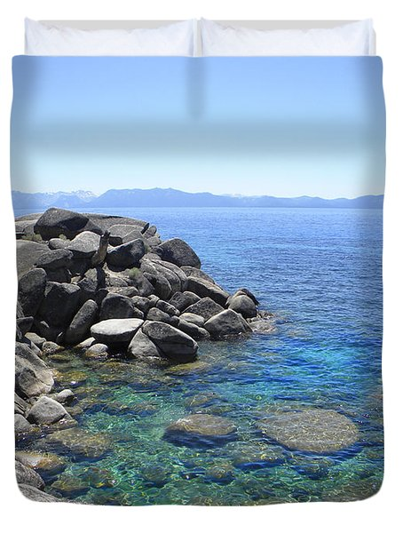 Boulder Cove On Lake Tahoe Duvet Cover