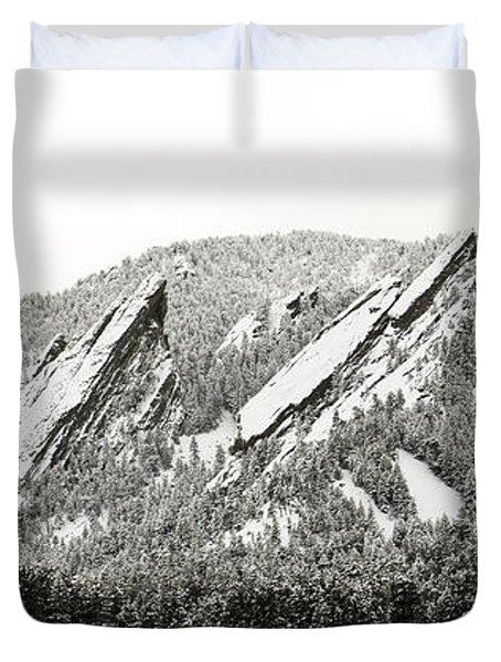 Boulder Flatirons Colorado 1 Duvet Cover