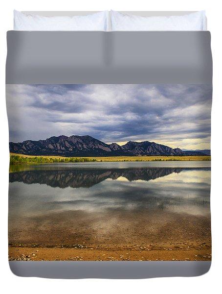 Boulder Flatirons From Marshall Lake Duvet Cover