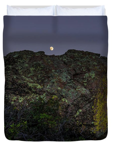 Boulder Moonrise Duvet Cover