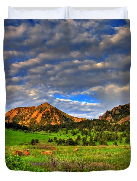 Boulder Spring Wildflowers Duvet Cover