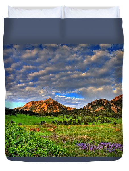 Boulder Spring Wildflowers Duvet Cover