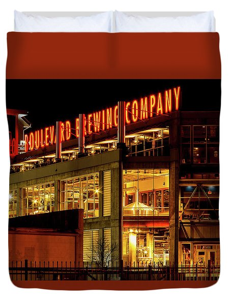 Boulevard Beer Sign Duvet Cover