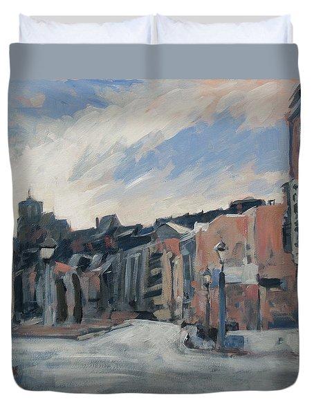 Boulevard La Sauveniere Liege Duvet Cover