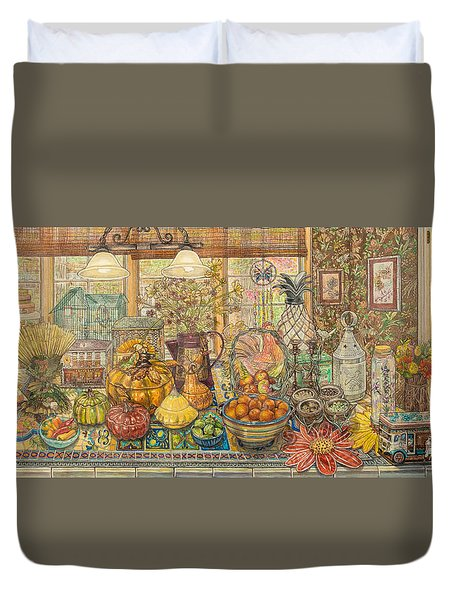 Bountiful Harvest Duvet Cover by Bonnie Siracusa