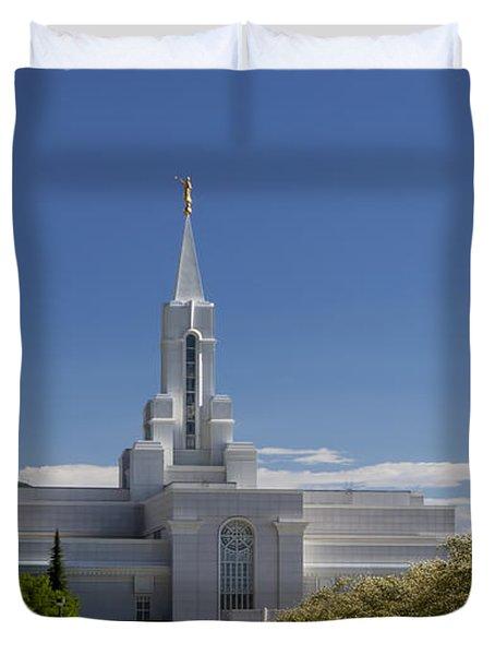 Bountiful Utah Temple In Spring Duvet Cover