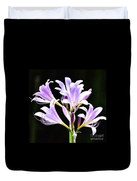 Bouquet In The Dark Duvet Cover