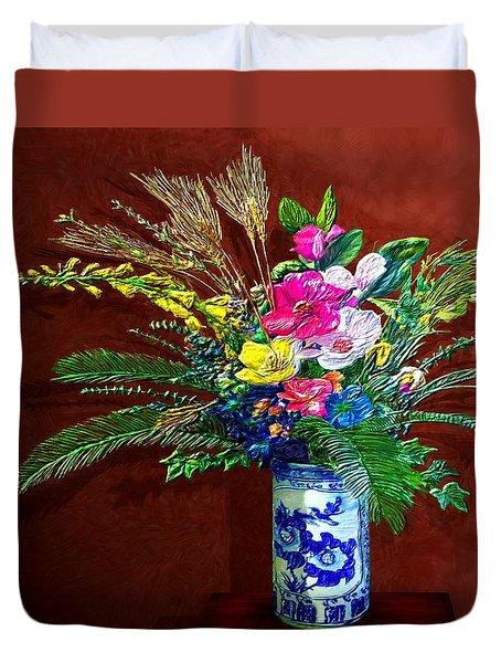 Bouquet Magnifique Duvet Cover by Ric Darrell