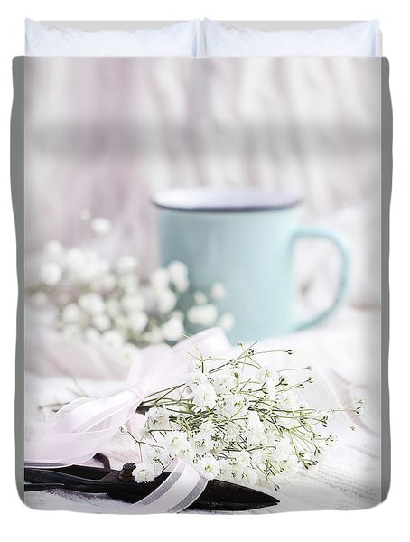 Bouquet Of Baby's Breath Duvet Cover