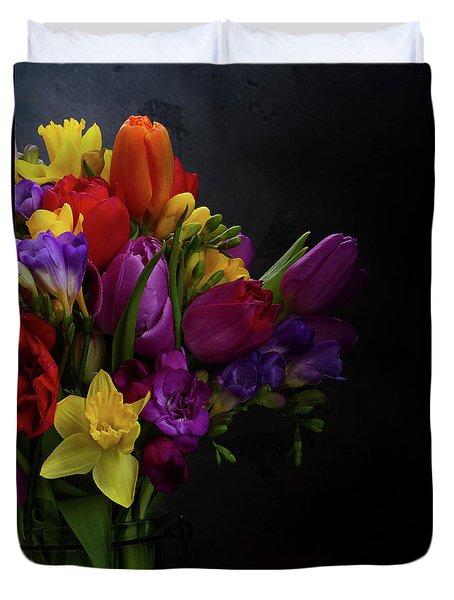Flowers Dutch Style Duvet Cover by Anastasy Yarmolovich
