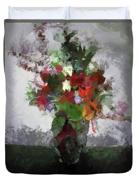 Bouquet Of Flowers Duvet Cover