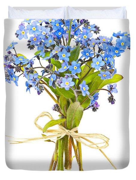 Bouquet Of Forget-me-nots Duvet Cover by Elena Elisseeva