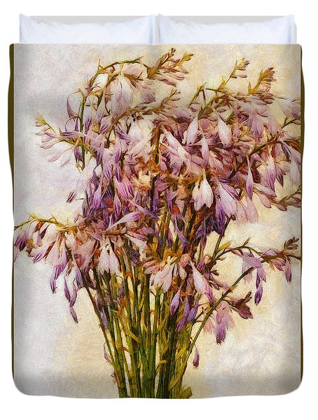 Bouquet Of Hostas Duvet Cover