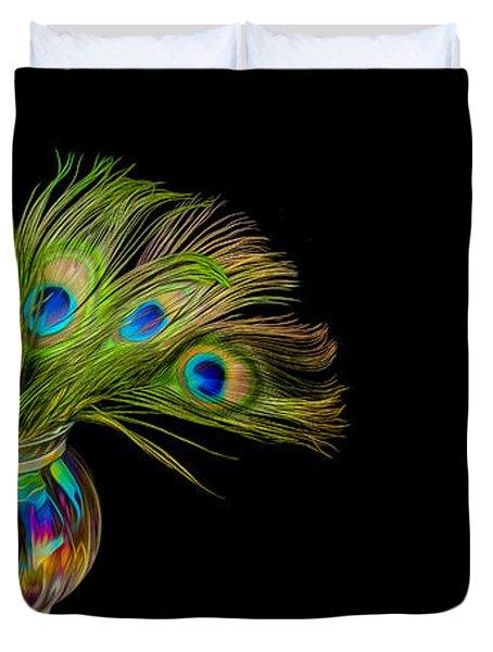 Bouquet Of Peacock Duvet Cover