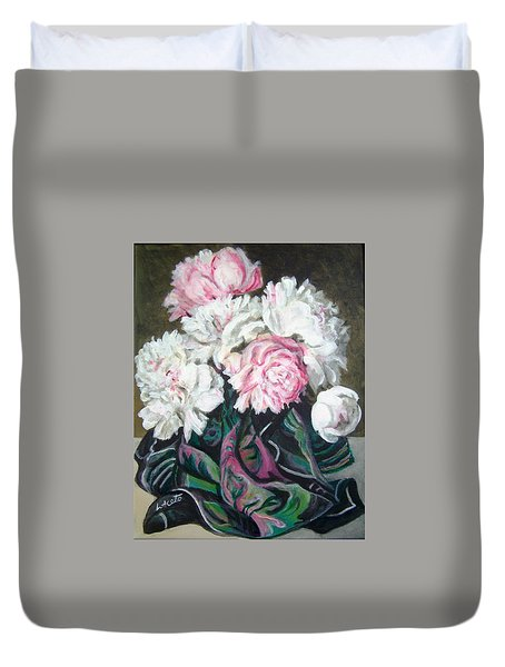 Bouquet Of Peonies Duvet Cover