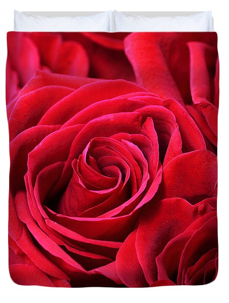 Bouquet Of Red Roses Duvet Cover