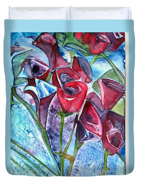 Bouquet Of Roses Duvet Cover