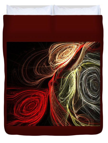 Duvet Cover featuring the digital art Bouquet Of Roses by Kathleen Sartoris