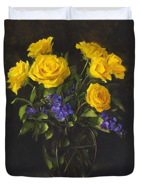 Bouquet Of Sunshine Duvet Cover