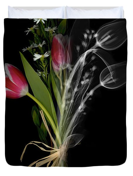 Bouquet X-ray Duvet Cover by Ted Kinsman
