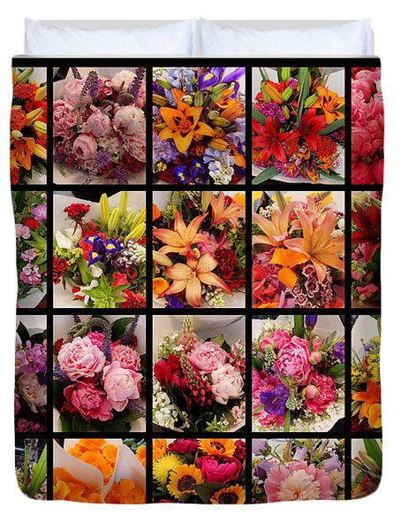 Bouquets Duvet Cover