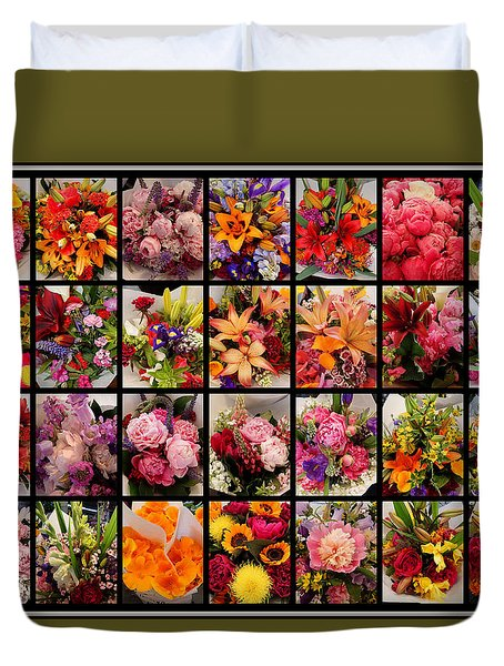 Bouquets Duvet Cover