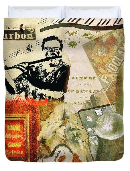 Bourbon Street Collage Duvet Cover