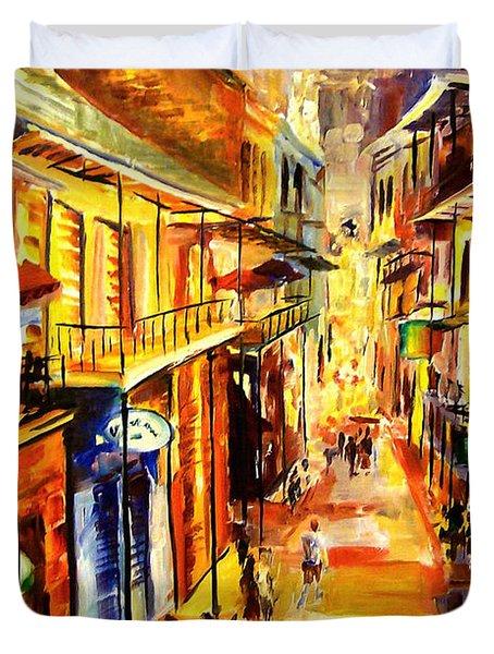 Bourbon Street Glitter Duvet Cover by Diane Millsap