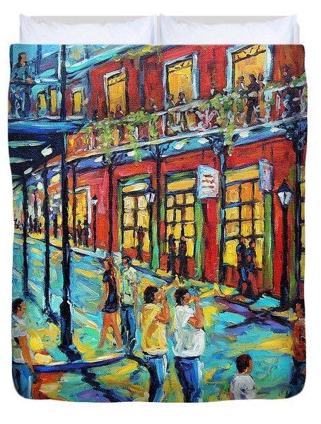Bourbon Street New Orleans By Prankearts Duvet Cover by Richard T Pranke