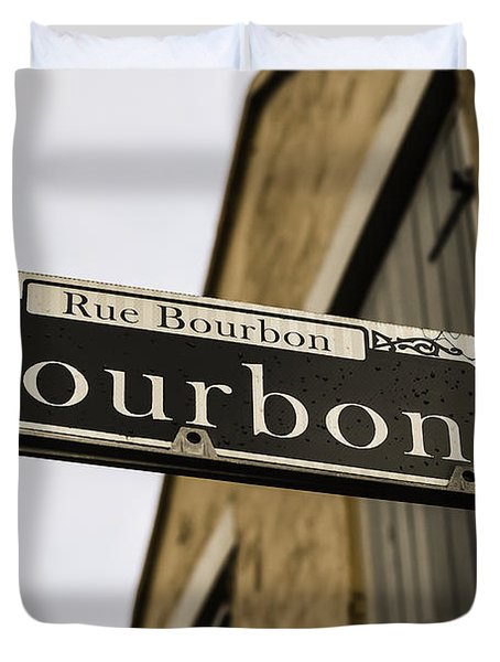 Bourbon Street, New Orleans, Louisiana Duvet Cover