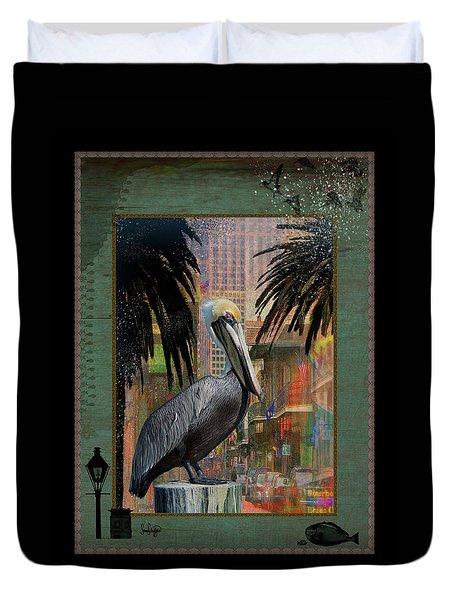 Bourbon Street Pelican Duvet Cover