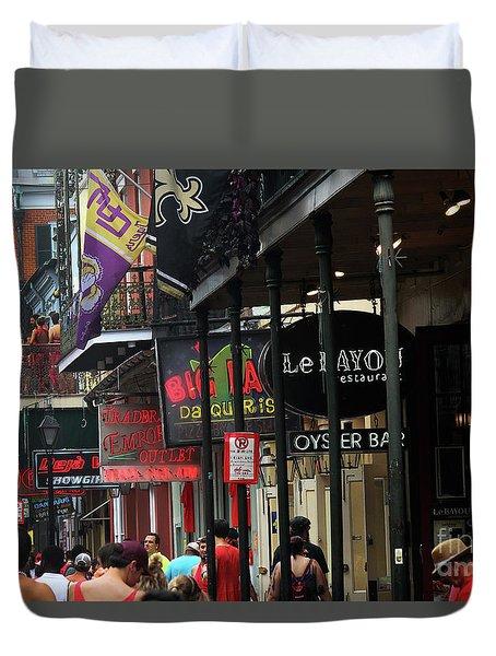 Bourbon Street Duvet Cover by Steven Spak