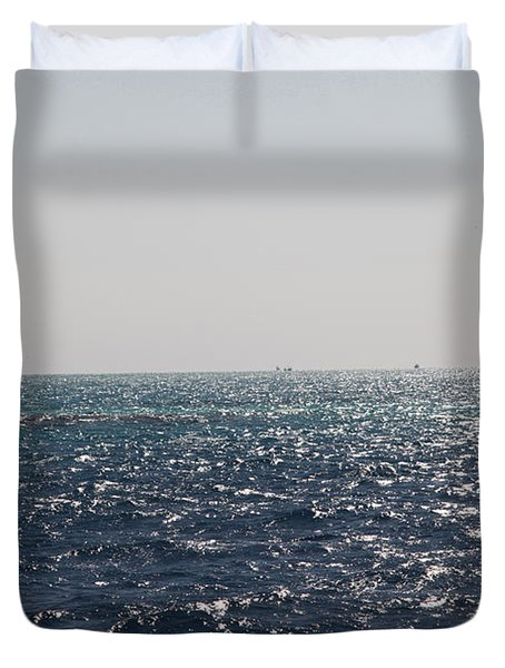 Duvet Cover featuring the photograph Bouy Oh Bouy by Jez C Self