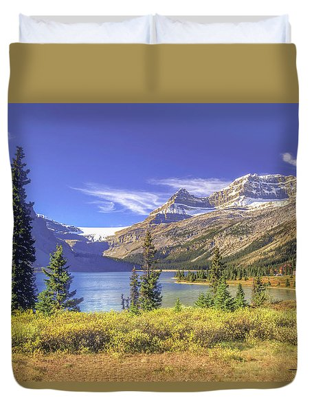 Duvet Cover featuring the photograph Bow Lake 2005 01 by Jim Dollar